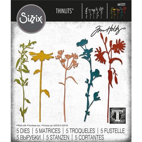 Sizzix - Tim Holtz - Thinlits Dies - Wildflower Stems 3