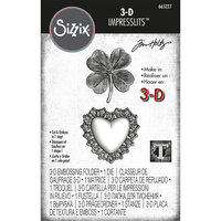 Sizzix - Tim Holtz - 3D Impresslits - Embossing Folder - Lucky Love