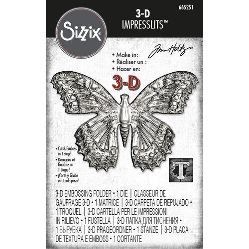 Sizzix - Tim Holtz - 3D Impresslits Embossing Folder and Die - Butterfly
