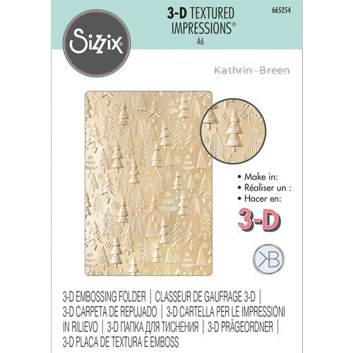 Sizzix - 3D Textured Impressions - Embossing Folders - Christmas Tree