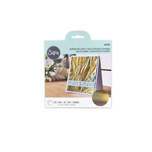 Sizzix - Surfacez Collection - 6 x 6 Aluminum Metal Sheets - Gold