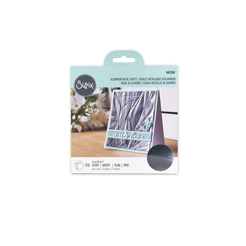 Sizzix - Surfacez Collection - 6 x 6 Aluminum Metal Sheets - Silver