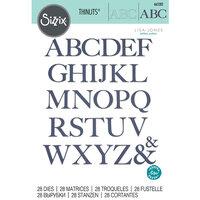 Sizzix - Thinlits Dies - Serif Alphabet