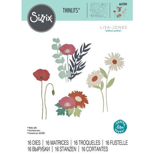 Sizzix - Thinlits Dies -Wild Blooms - Set Two