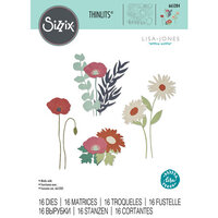 Sizzix - Thinlits Dies -Wild Blooms - Set Two