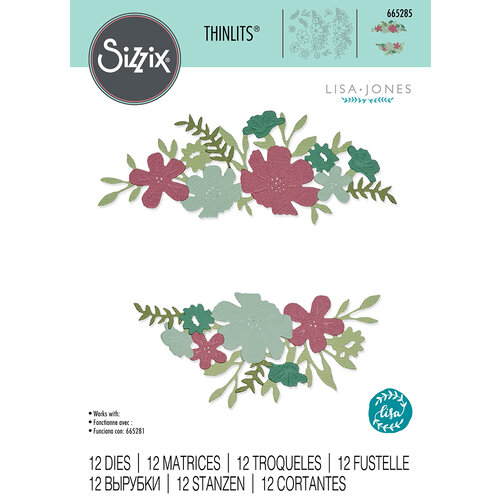 Sizzix - Thinlits Dies - Wild Blossom Borders