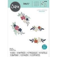 Sizzix - Thinlits Dies - Wild Blossom Corners