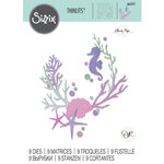 Sizzix - Mystical Collection - Thinlits Dies - Coral Wreath