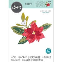 Sizzix - Thinlits Dies - Layered Christmas Flowers