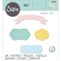 Sizzix - Bigz Die - Banners and Labels