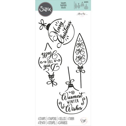 Sizzix - Clear Acrylic Stamps - Christmas Baubles