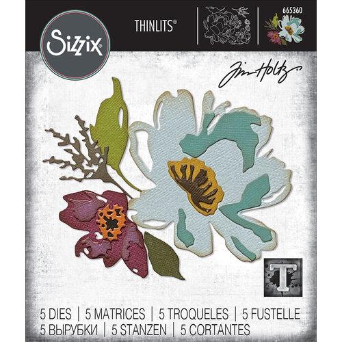 Sizzix - Tim Holtz - Thinlits Die - Brushstroke Flowers No. 3