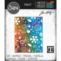 Sizzix - Tim Holtz - Thinlits Die - Folk Flowers