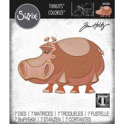 Sizzix - Tim Holtz - Thinlits Die - Bernice Colorize