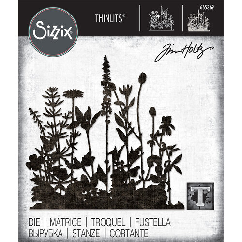 Sizzix - Tim Holtz - Thinlits Die - Flower Field