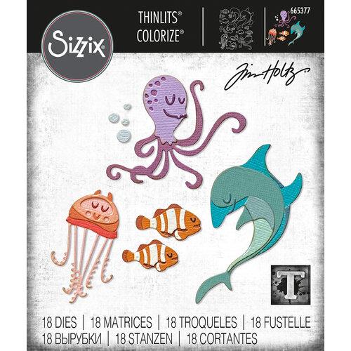 Sizzix - Tim Holtz - Thinlits Die - Under the Sea No. 1 Colorize