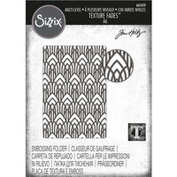 Sizzix - Christmas - Tim Holtz - Multi-Level Texture Fades Embossing Folder - Arched