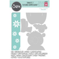 Sizzix - Thinlits Die and Textured Impressions Embossing Folder - Cozy Bear