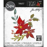Sizzix - Christmas - Tim Holtz - Thinlits Dies - Festive Bouquet