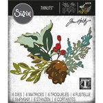 Sizzix - Christmas - Tim Holtz - Thinlits Dies - Holiday Brushstroke - Set Two