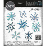 Sizzix - Christmas - Tim Holtz - Thinlits Dies - Scribbly Snowflakes