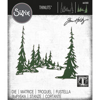 Sizzix - Christmas - Tim Holtz - Thinlits Dies - Tall Pines