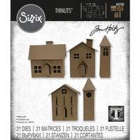 Sizzix - Christmas - Tim Holtz - Thinlits Dies - Paper Village Set Two