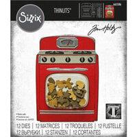 Sizzix - Christmas - Tim Holtz - Thinlits Dies - Retro Oven