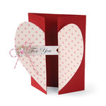 Sizzix - Bigz XL Die - Card, Heart Gatefold