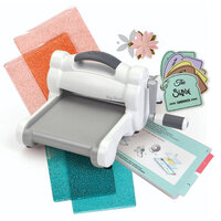 Sizzix - Big Shot Machine Die Cutting Bundle - White and Gray - With Exclusive Ocean and Ballet Slipper Cutting Pads