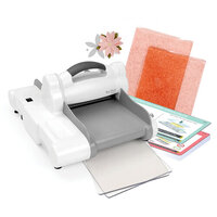 Sizzix - Big Shot Express Machine Die Cutting Bundle - White and Gray - With Exclusive Ballet Slipper Cutting Pads