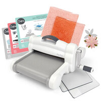 Sizzix - Big Shot Plus Machine Die Cutting Bundle - White and Gray - With Exclusive Ballet Slipper Cutting Pads