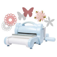 Sizzix - Limited Edition - Big Shot Machine - Sky Blue - With Dainty Doily, Little Butterfly and Pretty Flower Thinlit Dies