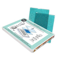 Sizzix - Accessory - Magnetic Platform and Standard Cutting Pads for Wafer-Thin Dies - Ocean Blue with Glitter Bundle