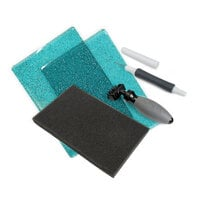 Sizzix - Accessory - Standard Cutting Pads, Die Brush, Foam Pad and Die Pick for Wafer-Thin Dies - Ocean Blue with Glitter Bundle