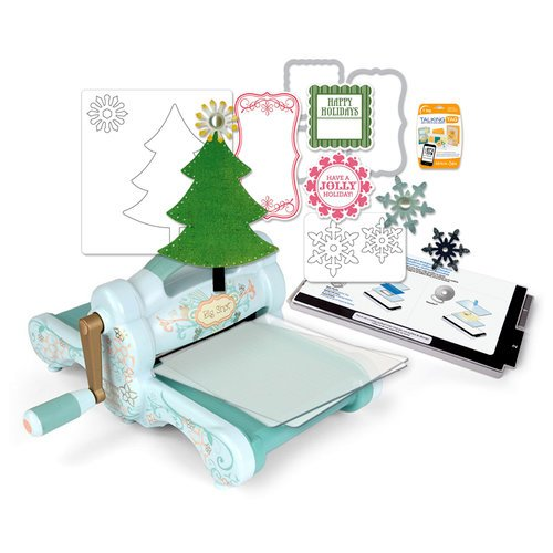 Sizzix - Big Shot Machine - Jolly Holiday Die and Rubber Stamp Kit - (Scrapbook.com Exclusive)