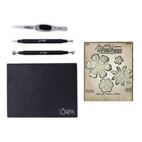 Sizzix - Tim Holtz - Making Tool - Shaping Kit and Bigz Die - Tattered Florals Bundle