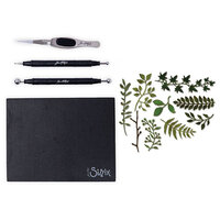 Sizzix - Tim Holtz - Making Tool - Shaping Kit and Thinlits Dies - Garden Greens Bundle