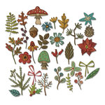 Sizzix - Tim Holtz - Alterations Collection - Thinlits Die - Funky Festive and Funky Foliage Bundle