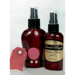 Tattered Angels - Glimmer Mist Spray - 2 Ounce Bottle - Burnt Red