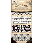 Tattered Angels - Tattered Trinkets Collection - Mistables - Crepe Ribbons - Playful Patterns, CLEARANCE