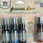 Tattered Angels - Prima - Glimmer Mist Spray - 1 Ounce Bottles - Favorites - Set of Four