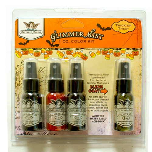 Tattered Angels - Halloween - Glimmer Mist Spray - 1 Ounce Bottles - Trick or Treat Set