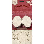 Tattered Angels - Regal Glimmer Chips - Embossed Framed Fonts - 3 in 1 Self Adhesive Chipboard Alphabet - Regal Frame