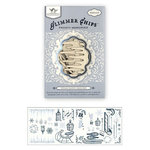 Tattered Angels - Glimmer Chips - Embossed Chipboard Pieces - Frosty Memories, CLEARANCE