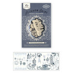 Tattered Angels - Glimmer Chips - Stamped Chipboard Pieces - Frosty Memories, CLEARANCE