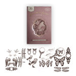 Tattered Angels - Creme de Rouge Glimmer Chips - Self Adhesive Chipboard Ornaments - Nature, CLEARANCE