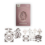 Tattered Angels - Creme de Rouge Glimmer Chips - Self Adhesive Chipboard Ornaments - Regal, CLEARANCE