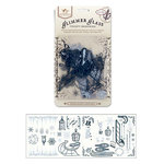 Tattered Angels - Frosty Blue Glimmer Glass - Frosted Memories, CLEARANCE