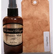 Tattered Angels - Glimmer Mist Spray - 2 Ounce Bottle - Winter and Christmas Limited Editions - Gingerbread